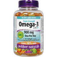 Webber Naturals Omega-3 s D3 900mg 65 tobolek