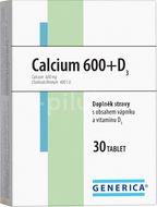 Generica Calcium 600+ vitamín D3 30 tablet