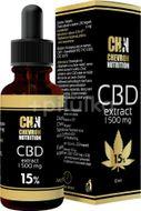 Chevron Nutrition CBD Konopný olej 15% 1500 mg 10ml