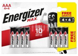 Energizer Max - Mikrotužka AAA/4+4 zdarma