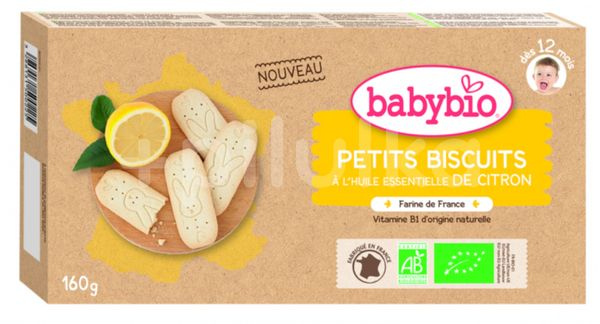 BABYBIO sušenky citrón 160 g