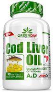 AMIX Green Day Cod Liver Oil, 90 kapslí