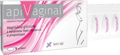 Apivaginal Vag.globule s kys.hyaluron.a propol. 5ks