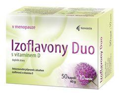Izoflavony Duo s vitamínem D  50+10 kapslí navíc