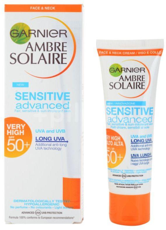 Garnier Ambre Solaire Sensitive Advanced Krém na obličej SPF 50+ 50ml