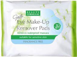 Beauty Formulas Odličovací ubrousky na oči a make-up 30ks