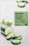 Mizon Joyful Time Essence Mask Cucumber Plátýnková maska s rozjasňujícím a hydratačním účinkem 23g