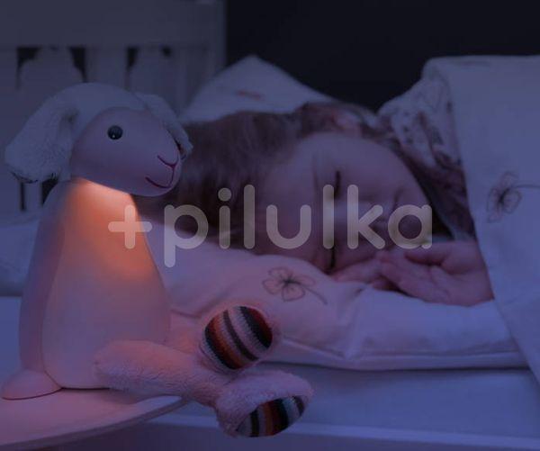 ZAZU Ovečka FIN šedá - čtecí lampička s nočním světlem