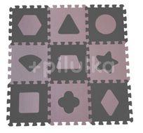 Baby Dan Pěnová hrací podložka puzzle Geometrické tvary, Rose 90x90 cm