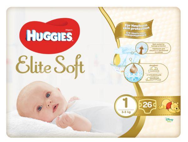 Huggies Elite Soft 1 Pleny 26ks