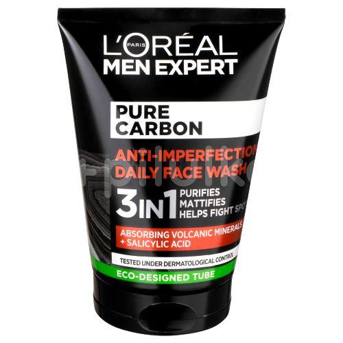 L'Oréal Paris Men Expert Pure Carbon 3v1 čisticí gel proti nedokonalostem pleti 100ml