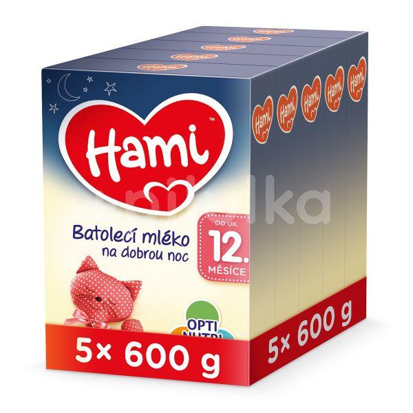 Hami Batolecí mléko na dobrou noc od uk. 12. měsíce 5x600g