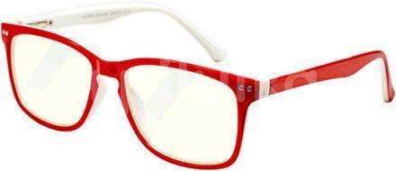 Glassa Brýle na počítač PCG07 červená/bílá