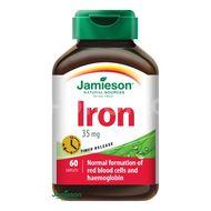 Jamieson Železo 35mg s postupným uvolňováním 60 tablet