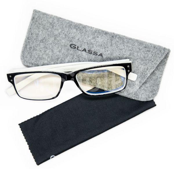 Glassa Brýle na počítač PCG05 černá/bílá