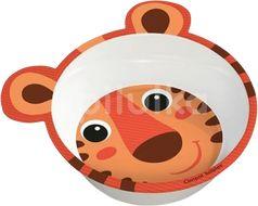 Canpol babies Melaminová miska protiskluzová s ouškama 490 ml oranžová