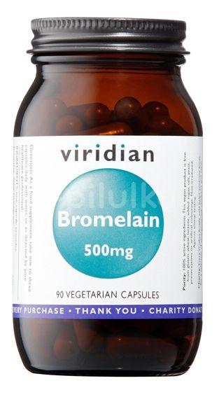 Viridian Bromelain 500mg 90 kapslí