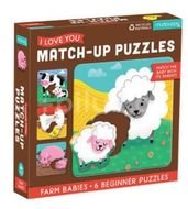 Mudpuppy Match-Up Puzzle - Mláďata z farmy