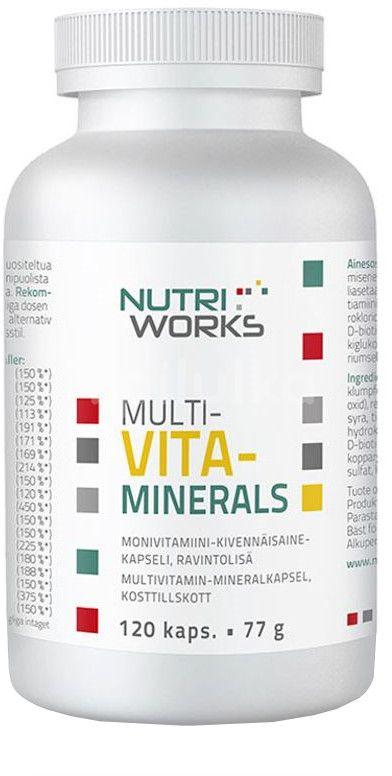 NutriWorks Multivitaminerals 120 kapslí