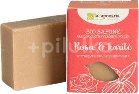 laSaponaria Tuhé olivové mýdlo BIO Růžový olej a bambucké máslo 100g