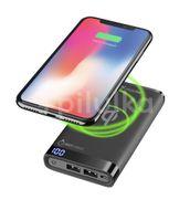 CellularLine Prémiová powerbanka Freepower Manta s bezdrátovým nabíjením, 8000 mAh, černá
