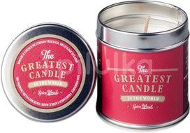 The Greatest Candle Vonná svíčka v plechovce Dřevo a koření 200g