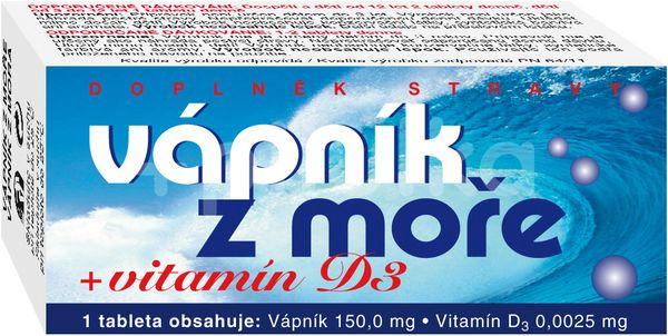 Naturvita Vápník z moře + Vitamín D3 60 tablet