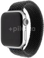 FIXED Elastický nylonový řemínek Nylon Strap pro Apple Watch 42/44/45mm černý velikost L