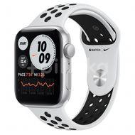 Apple Watch Nike SE GPS, 44mm Silver Aluminium Case, Pure Platinum/Black Nike Sport Band, Regular 1ks