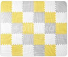 Kinderkraft Podložka pěnové puzzle Luno Yellow 30ks