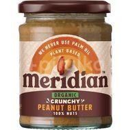 Meridian Organic Arašídové máslo křupavé 280g