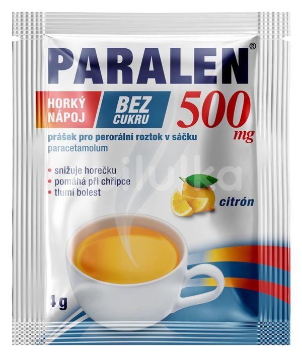 Paralen® horký nápoj citron bez cukru 500mg 12 sáčků
