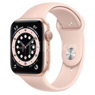 Apple Watch S6 GPS, 44mm Gold Aluminium Case, Pink Sand Sport Band, Regular 1ks