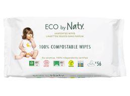 Naty Eco Vlhčené ubrousky bez vůně pro citlivou pokožku 56ks