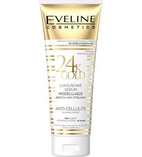 Eveline Slim Therapy 24k Gold modelující sérum na břicho, stehna a hýždě 250ml