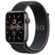 Apple Watch SE GPS + Cellular, 44mm Space Gray Aluminium Case, Charcoal Sport Loop 1ks
