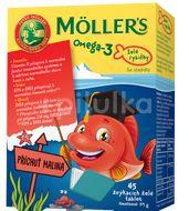 Möller's Omega 3 Želé rybičky malinová příchuť 45ks