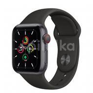 Apple Watch SE GPS + Cellular, 40mm Space Gray Aluminium Case, Black Sport Band, Regular 1ks