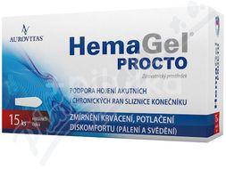 HemaGel PROCTO rektální čípky 15ks