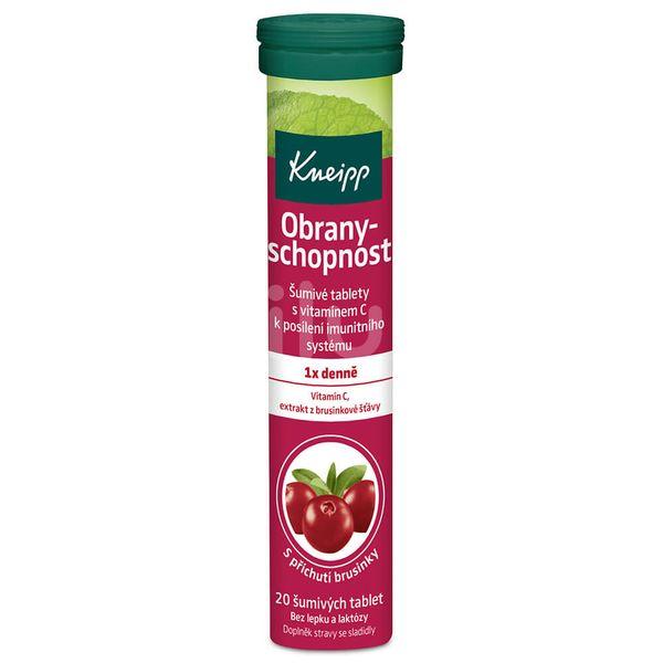 Kneipp Obranyschopnost + Vitamín C brusinka 20 tablet