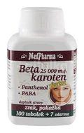 MedPharma Beta karot.25 000 m.j. Panthenol+PABA 107 tobolek