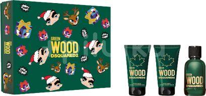 Dsquared2 Green Wood Set Eau de Toilette 50ml + After Shave Balm 50ml + Bath&Shower Gel 50ml