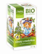 Apotheke Dětský ovocný čaj s meduňkou BIO 20x2g