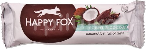 HAPPY FOX – Kokosová tyčinka s kakaem 40g