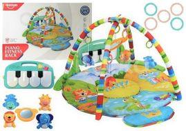 Huanger Hrací deka s pianem 3v1 XXL - Happy Zoo