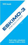 Eskimo-3 rybí olej kapsle 105 kapslí