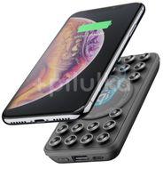 CellularLine Powerbanka Octopus Wireless s bezdrátovým nabíjením a přísavkami 5000mAh - Černá
