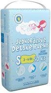 MonPeri Klasik S 3–6 kg Eko Jednorázové dětské plenky 50ks