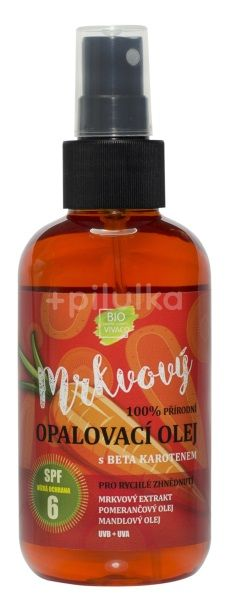 Vivaco Bio Přírodní opalovací mrkvový olej  SPF6 150ml