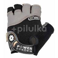 Power System Rukavice Fit Girl PS-2900 černo-šedá XS
